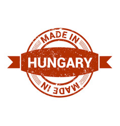hungary stamp design vector image