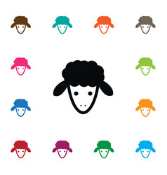 isolated goat icon flock element can be vector image