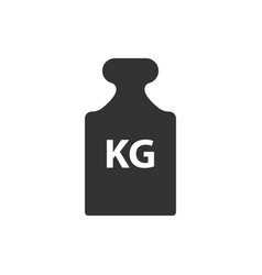 kg weight mass black simple flat icon vector image