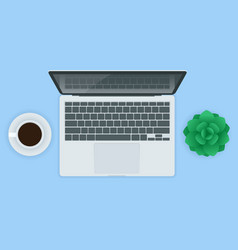 laptop computer realistic isolated on vector image