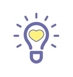 Light bulb favorites idea icon vector
