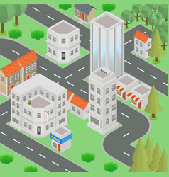 megapolis 3d isometric three-dimensional view of vector image
