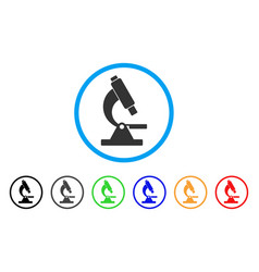 microscope rounded icon vector image