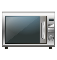 Microwave oven on white background vector image