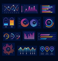 modern infographic business future charts monitor vector image