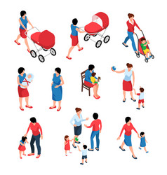mother and baisometric set vector image