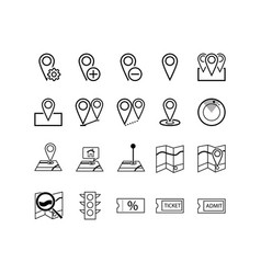 navigation direction maps traffic and more vector image