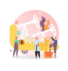 Oil industry concept for web banner vector
