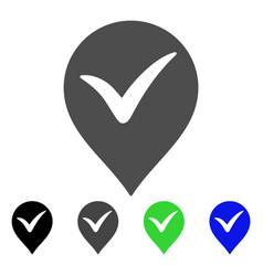 Ok marker flat icon vector