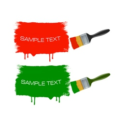 paintbrushes vector image