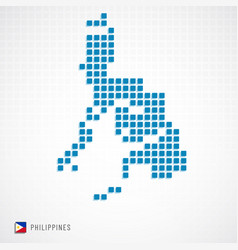 philippines map and flag icon vector image
