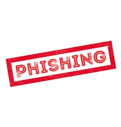 Phishing rubber stamp vector image