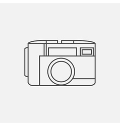 photo camera icon in line style vector image
