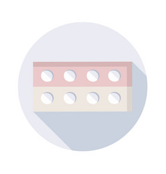 pills icon with long shadow for web design vector image