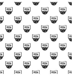 Pizza badge or signboard pattern vector