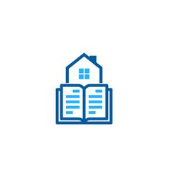 Property book logo icon design vector