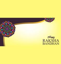 Raksha bandhan indian day celebration background vector