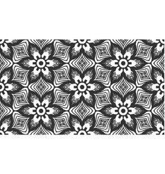 retro lace flower flat herbal seamless pattern vector image