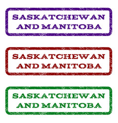 Saskatchewan and manitoba watermark stamp vector