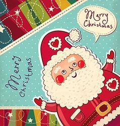 Scrapbook Arty Santa Claus vector