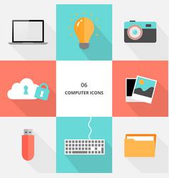 set 06 - flat design computer icons vector image