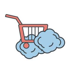 shopping cart symbol vector image