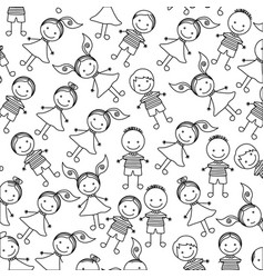 Silhouette pattern set collection children design vector