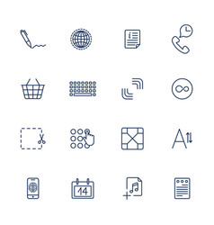 Simple internet icons set universal internet vector