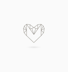 Simple linear heart vector