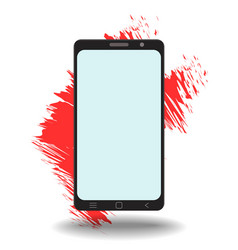 simple mockup smart phone template with blank vector image