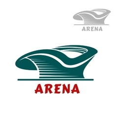 Sports stadium icon with curved shape vector image