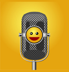 Stand up comedy show poster with microphone vector