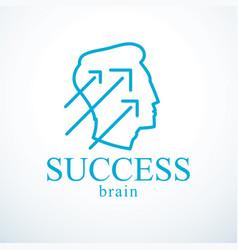Successful man logo or icon design man head vector