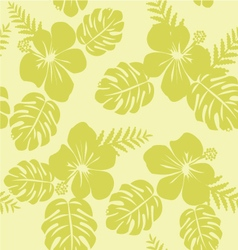 Tropical Pattern with Monstera leaves and hibiscus vector image