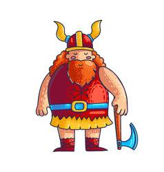 viking cartoon character vector image