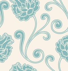 vintage flower pattern vector image
