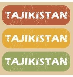 Vintage Tajikistan stamp set vector