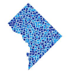 Washington dc map mosaic of squares vector