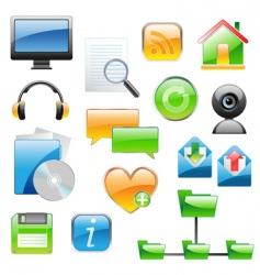 basic web icon set vector image vector image