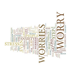 Five steps to freedom from worries text vector