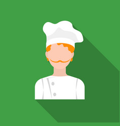 chef icon in flat style isolated on white vector image vector image