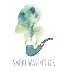 Cigarette smoke watercolor set vector image vector image