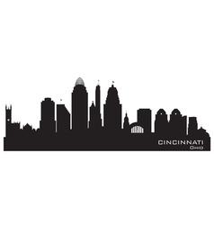 Cincinnati Ohio skyline Detailed silhouette vector image vector image