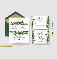wedding invitation save the date rsvp invite card vector image