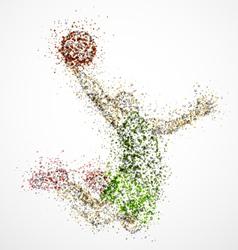 Abstract basketball player2 vector image vector image