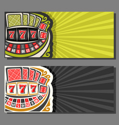 banners for gambling games vector image vector image