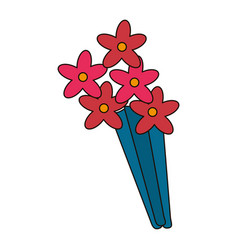 beauty bunch flower decoration vector image