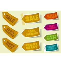 collection of sale stickers vector image
