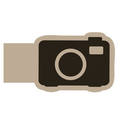 dark contour camera icon vector image