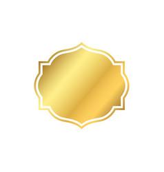 gold frame beautiful simple golden design vector image